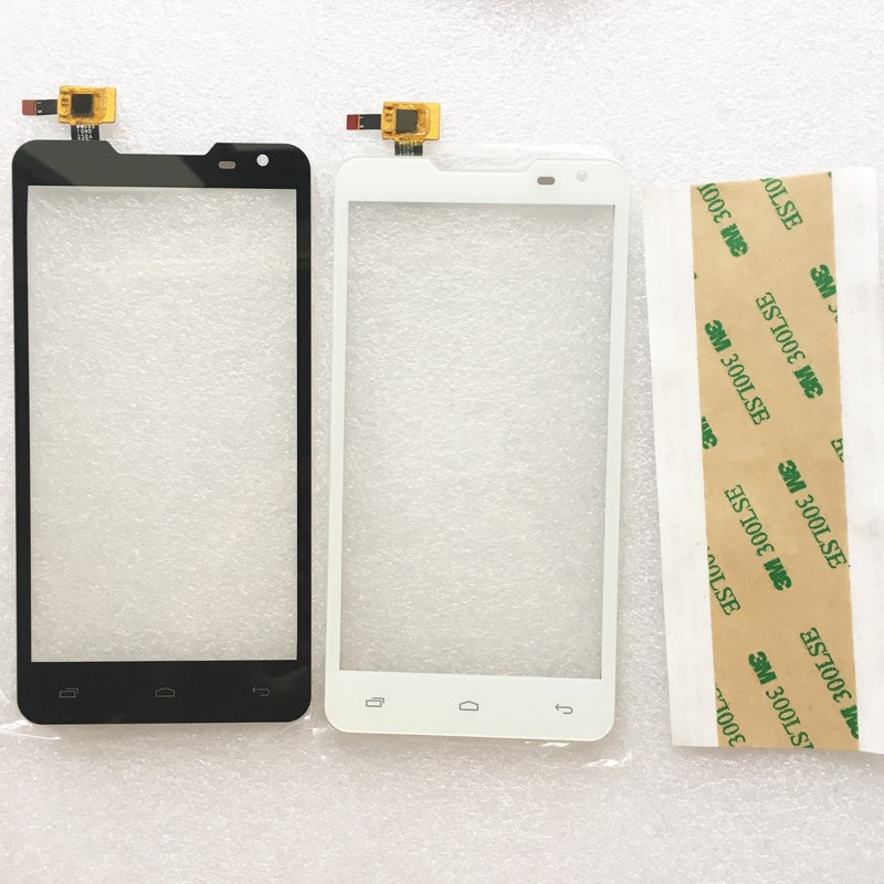 Black Sensor For Prestigio MultiPhone PAP 5044 PAP5044 Duo Touch Screen Digitizer Glass Panel + 3M