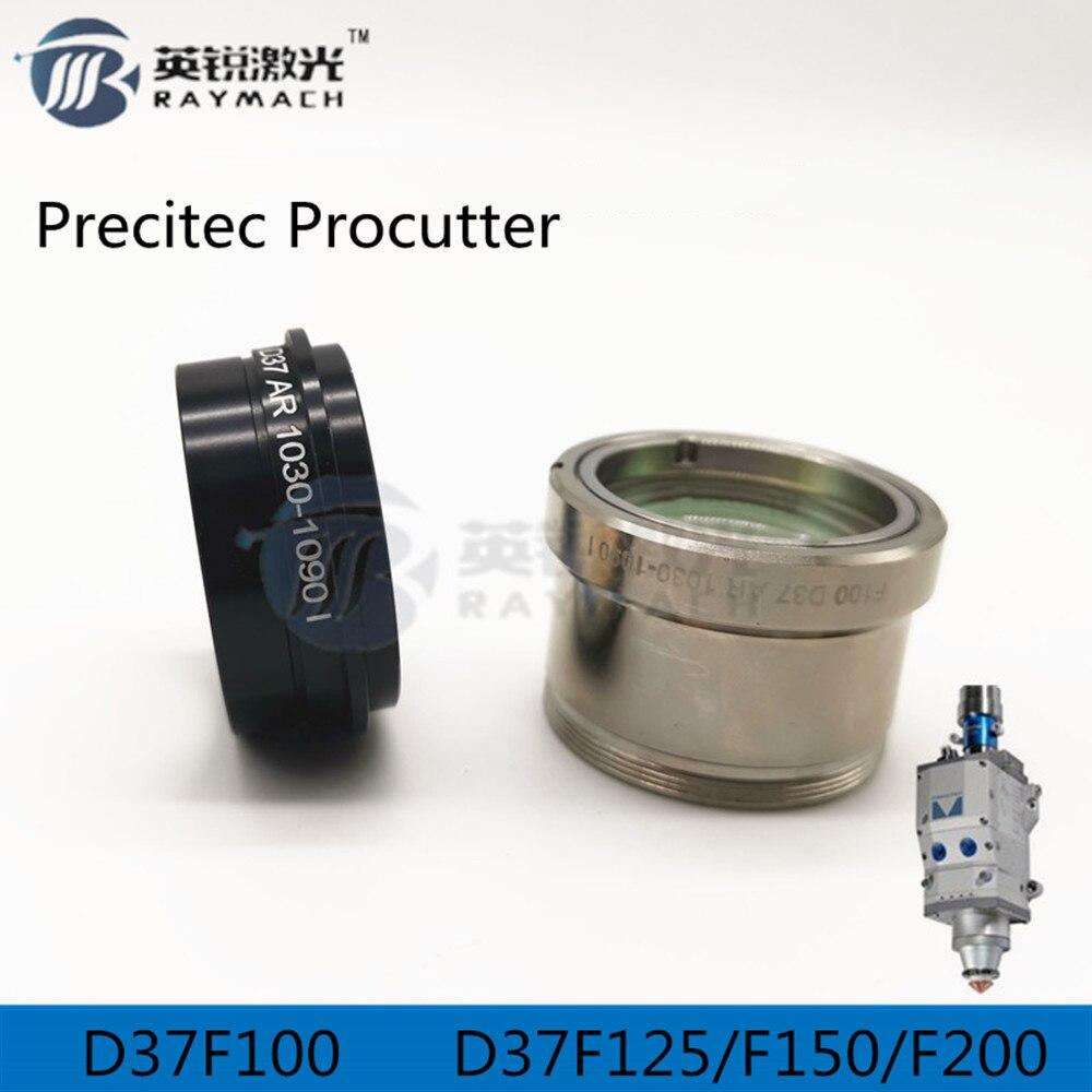 PRECITEC PROCUTTER Fiber Laser Head Spare Parts Focus Lens D37f125 Collimating Lens D37f100 Protective Windows
