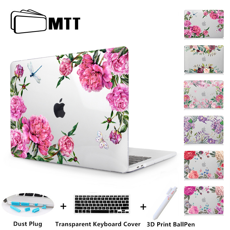 ebbdbfc67bf8 US $10.99 17% OFF|MTT Flowers Case For Macbook Air Pro Retina 11 12 13 15  inch With Touch Bar 2018 Laptop Sleeve for apple macbook air 13 cover-in ...