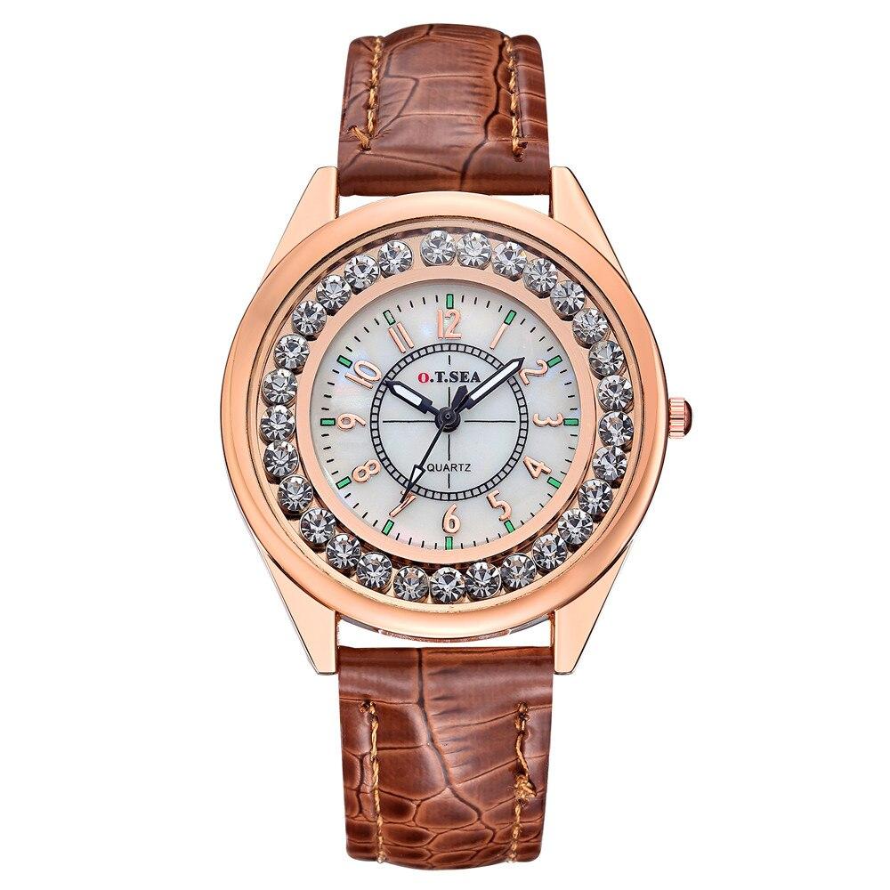 Gofuly Dames De Luxe Quartz montre Femmes Strass En Cuir Casual Cristal Robe de Femmes montre reloje mujer 2019 montre femme