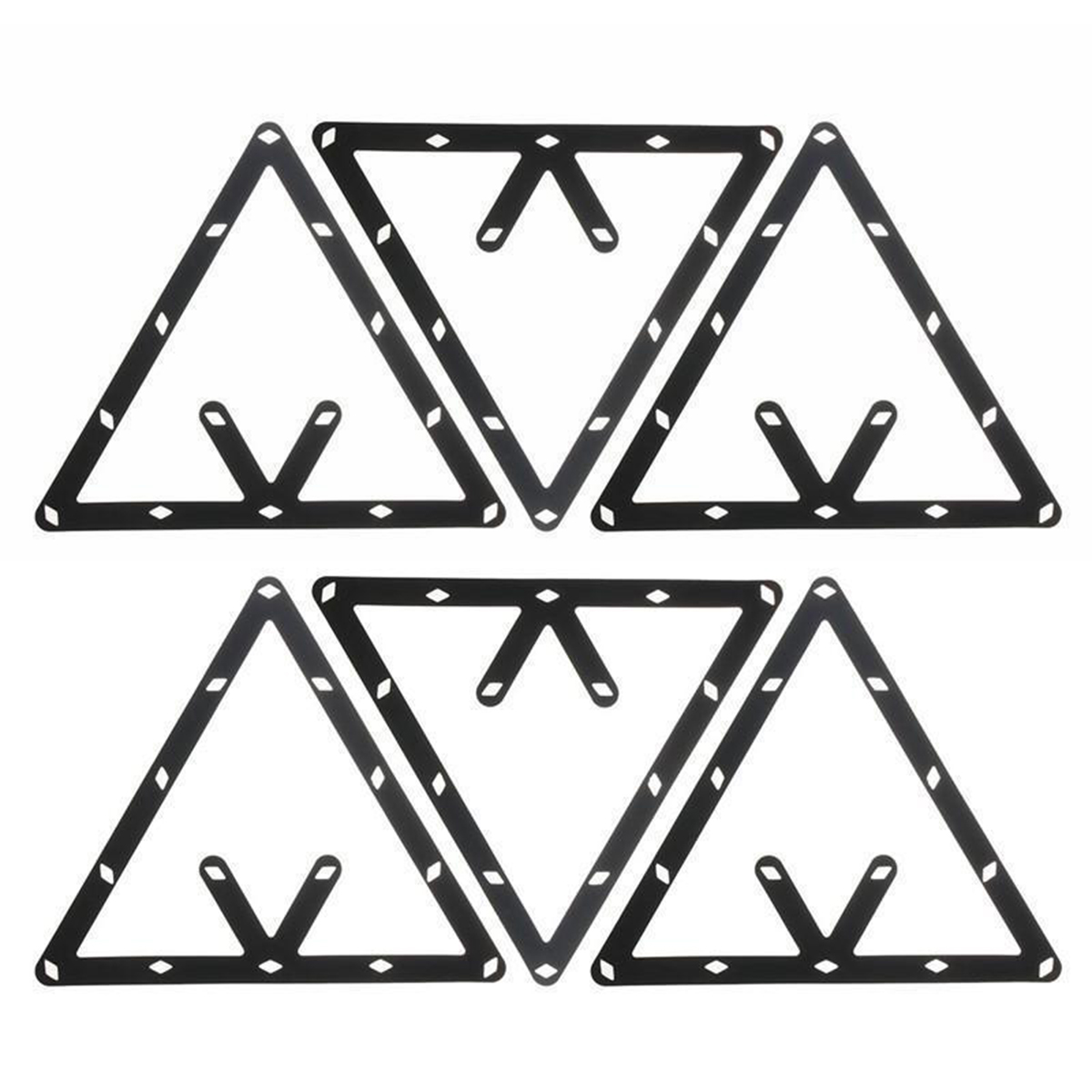 New Arrivals 6Pcs/Set Billiard Magic Rack Black Triangle ...