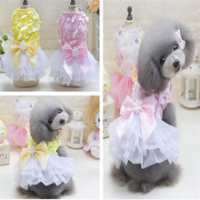 New pet clothes wholesale dog in spring and summer Teddy skirts butterfly flying