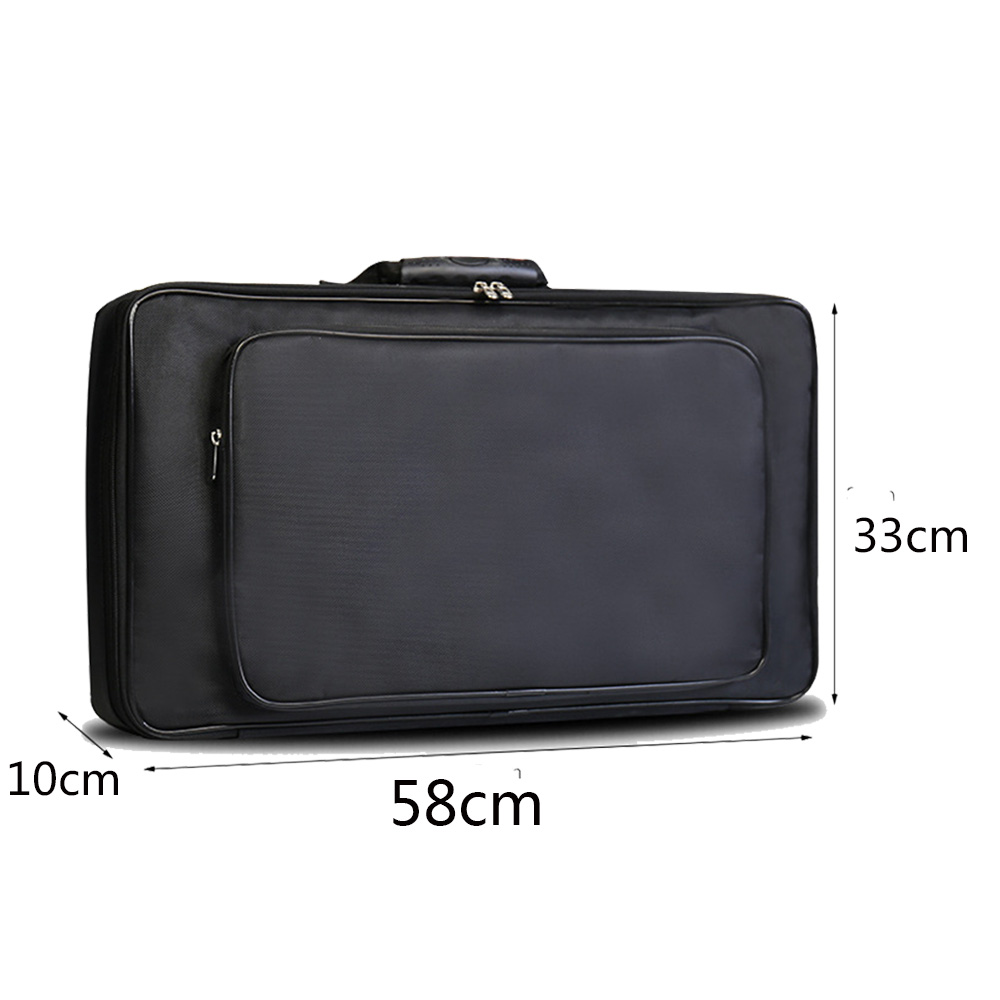 60 33 10cm Black Universal Portable Guitar Effects Pedal Board Gig Bag Soft Case Big Style DIY Guitar Pedalboard Light weight in Guitar Parts Accessories from Sports Entertainment