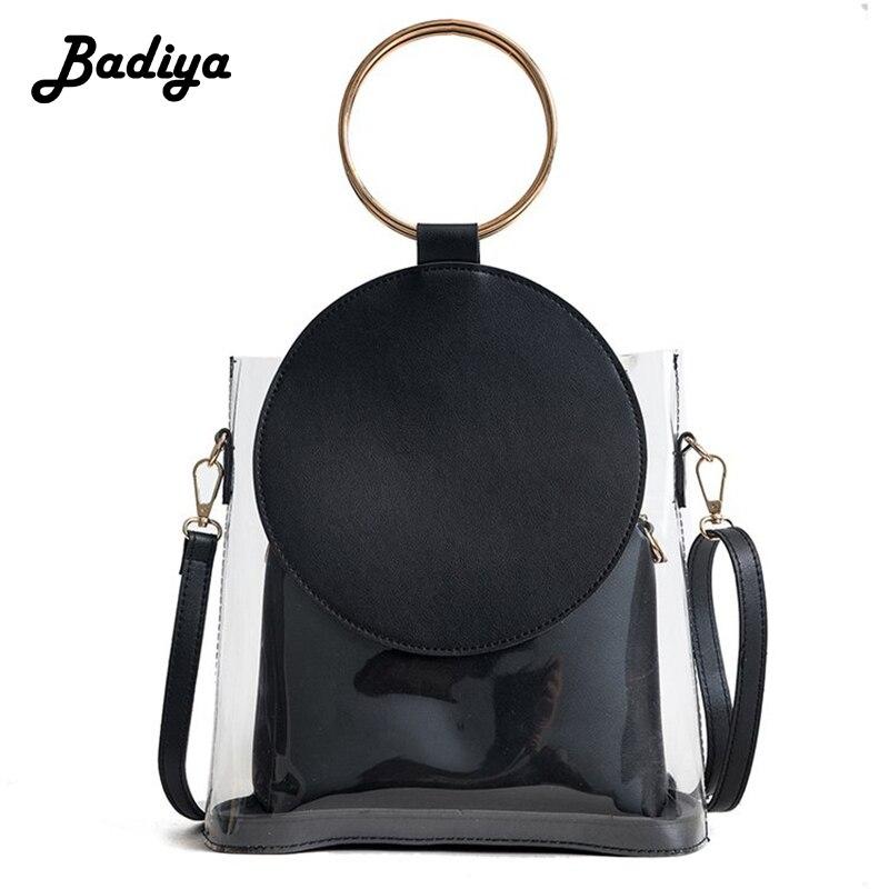 Famous Design Fashion Women Handbag Pu Leather Crossbody Shouder Bag 2pcs/set Round Adjustable Strap Bag Female Bolsa