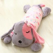 new creative font b plush b font dog pillow pink cloth lying dog toy gift about