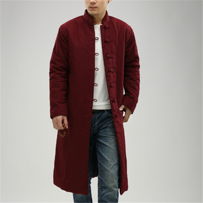 64db6732f 2017 men's and women's windbreaker coat jacket in winter long traditional  Chinese clothing in the national wind of a long pure l-in Trench from Men's  ...