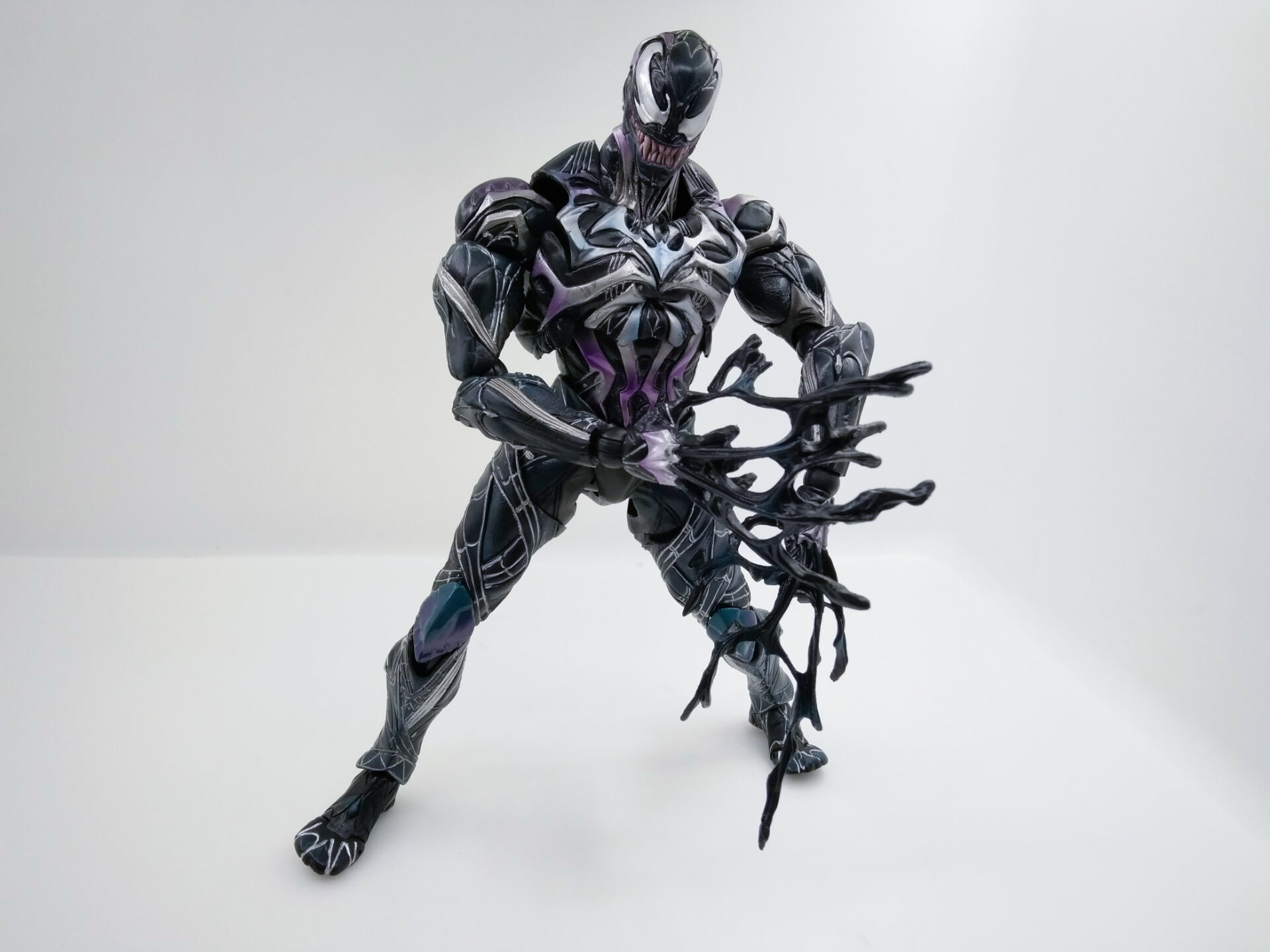 WVW 27CM Hot Sale Q Version Movie Hero Spider Man Venom Play Arts Model PVC Toy Action Figure Decoration For Collection Gift cartoon fight hero star model desktop decoration gift