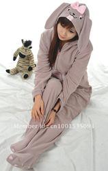 جديد الكبار للجنسين الحيوان جميل رمادي أرنب منامة النوم تأثيري ملابس خاصة في الأوراق المالية