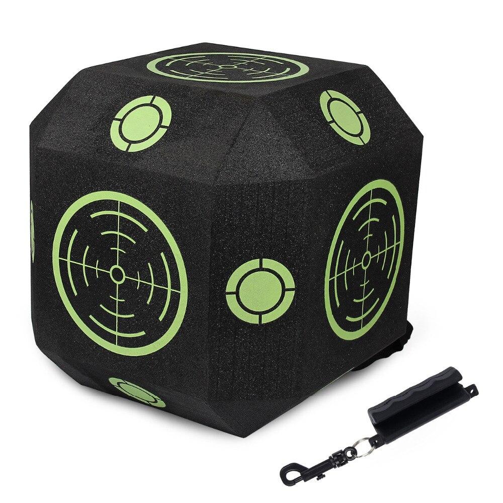 Cible de tir à l'arc 3D Cube réutilisable à 18 faces avec mousse XPE auto-cicatrisante rapide pour tous les Types de flèches