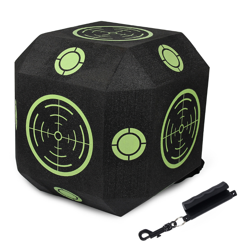 Outdoors Reusable 18-Sided 3D Cube Archery Target With Fast Self-healing XPE Foam Fit For All Arrow Types