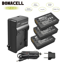 цена bonacell 1100mAh LP E12 LP-E12 Battery Charger Pack for Canon Rebel SL1 EOS 100D EOS M EOS M2 EOS M10 Mirrorless Digital Camera онлайн в 2017 году