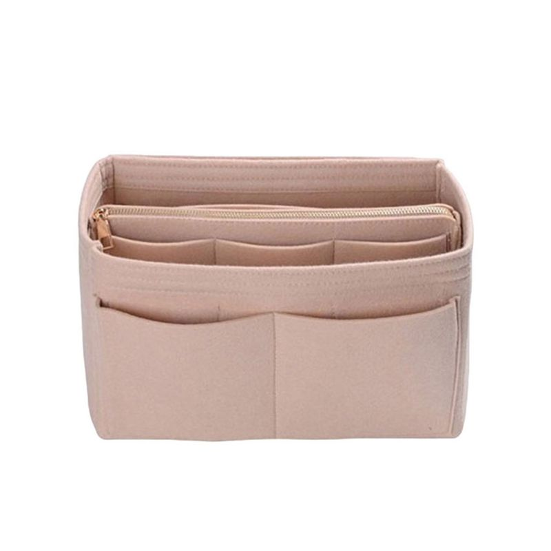 High Quality Multi Pocket Felt Purse Handbag Organizer Insert Storage Tote Shaper Fabric Bag