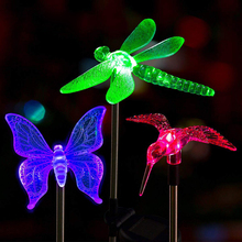 Multicolor led Solar Stake Lights Outdoor Dragonfly/Butterfl