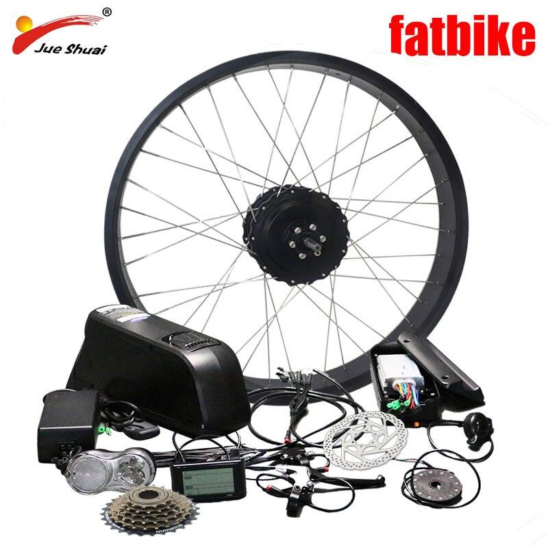 Livraison gratuite 48 V 1000 W vélo électrique Kit pour 26*4.0 roue de vélo Arrière roue moyeu Moteur Puissant bicyclette à pneus larges Neige Vélo