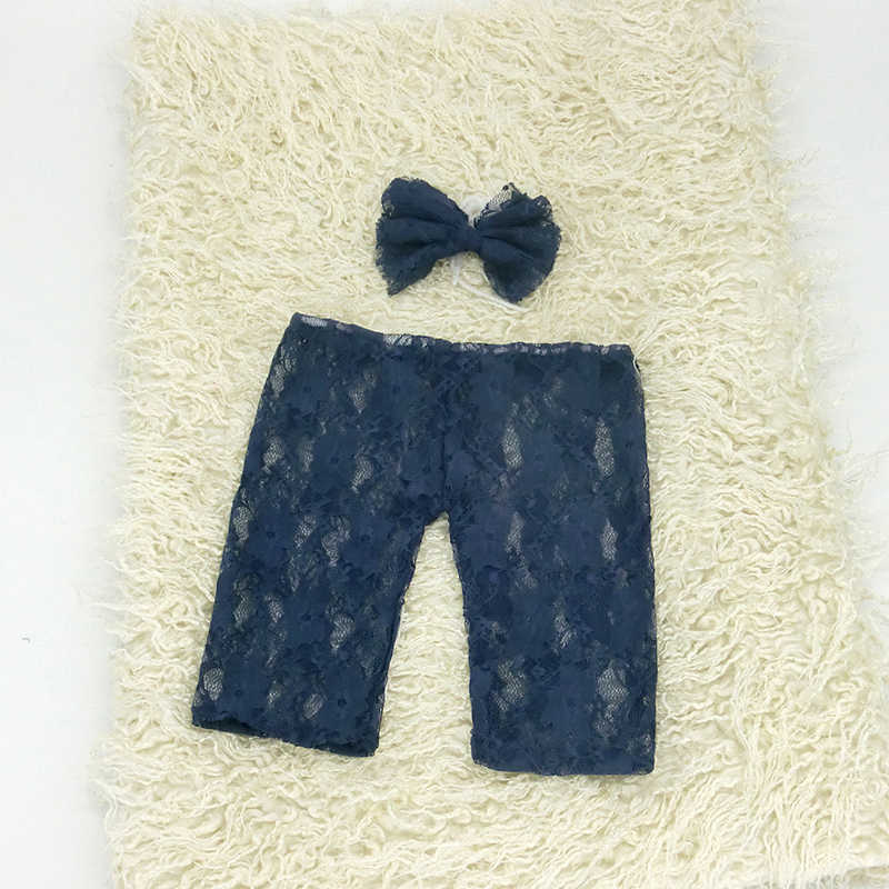Новорожденный реквизит для фотосессии, Кружевной Костюм + повязка на голову, одежда для малышей, кружевной наряд с бантом, подарки для душа, студийный реквизит для детской фотосъемки