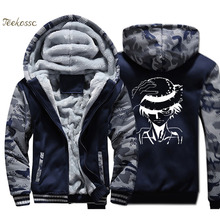 Japanese Anime One Piece Hoodie Men Harajuku Hooded Sweatshirt Luffy Coat Winter Thick Fleece Warm Zip up The Pirate King Jacket hooded zip up spliced faux twinset one button jacket