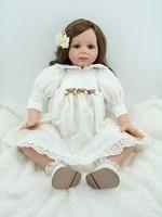 NPKDOLL long hair 24'' 60 cm lifelike reborn doll wholesale new baby toys doll toys for kids Christamas birthday new Year's gift