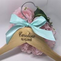 Gepersonaliseerde Bruid Hanger voor Trouwjurk of Bruiloft Gift Bruid en Bruidsmeisjes Gift Dubbele Hanger