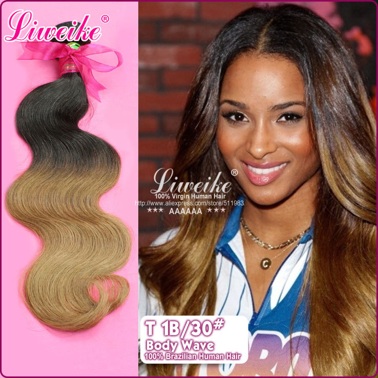 Body Wave Ombre Hairgrade 6a Brazilian Hair12 26 Inches Remy Human