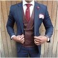 Мода abendkleider herren высокое качество custom made slim fit жених костюмы плюс размер свадебное suiits для мужчин однобортный терно