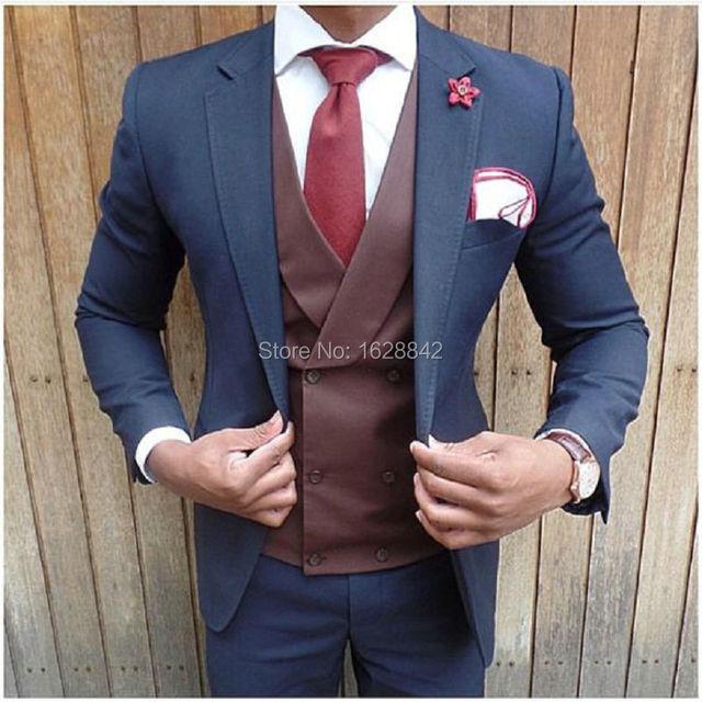 Moda abendkleider herren alta calidad por encargo slim fit novio suiits trajes de novia más el tamaño de los hombres solo pecho terno
