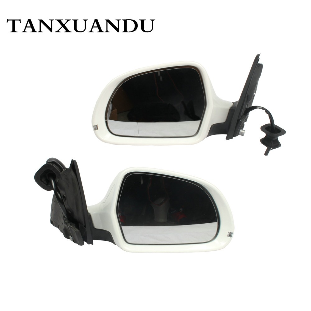 Right RIGHT Side Mirror Electric Foldable W// Heated White Fit For AUDI Q5 09-15