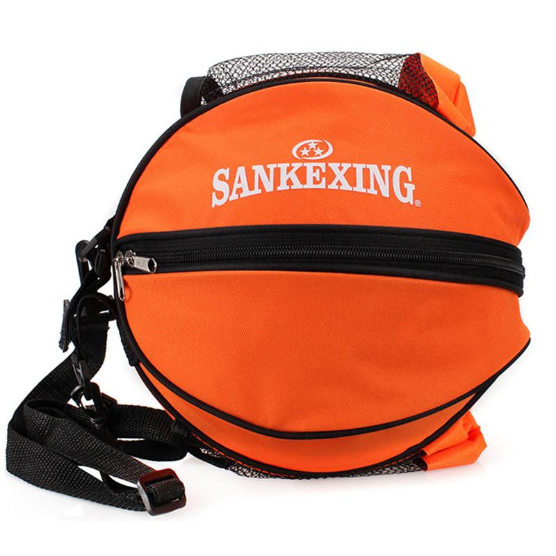 SANKEXING Outdoor Football Kits Volleyball Basketball Bag Round Sports Shoulder Ball Bags Nylon Training Equipment Accessories