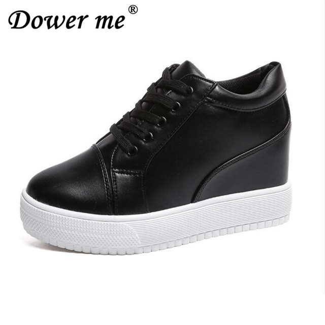 c0951df27d8 2018 Mulheres Sapatos De Salto Alto Plataforma Sapatos de Cunha Tenis  Feminino Casual Cesta Femme Sapatos