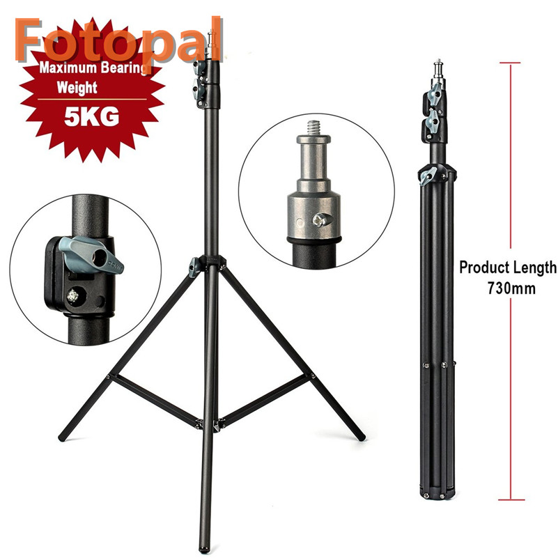 FotoPal 2M Light Stand Tripod With 1/4 Screw Head Bearing Weight 5KG For Studio Softbox Flash Umbrellas Reflector Lighting