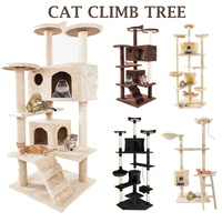 36/52 Inch Cat Tree Tower Condo Furniture Scratch Post for Kittens Pet House Play Tree Climbing Shelf DIY Cats Scratching Toys