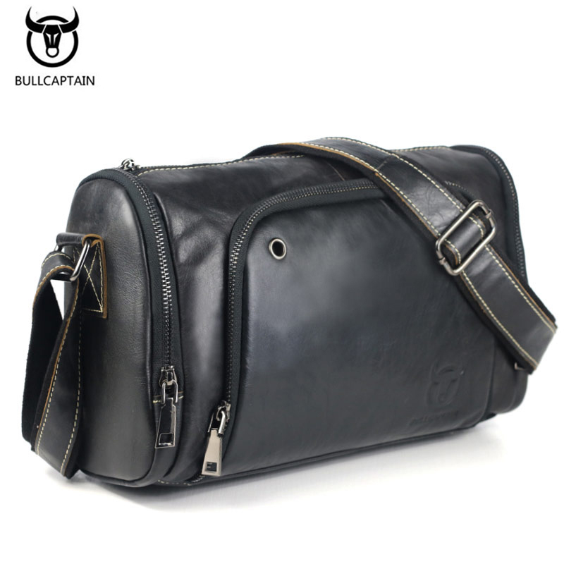 2017 Vintage Men's Leather Genuine Messenger Bag Capacitate Crossbody Genti Casual Cowhide Pungi de umar Retro Sacuri Man briefcase