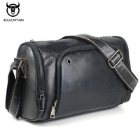 2017 Vintage Men's Genuine Leather Messenger Bag Capacity Crossbody Bags Casual Cowhide Shoulder Bags Retro Bags Man Briefcases
