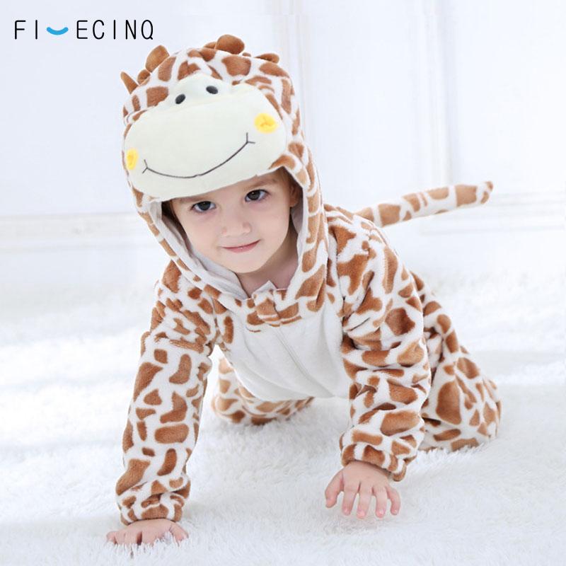 Giraffe Cosplay Costume Kid Kawaii Warm Funny Onesie Kigurumis Baby Animal Cartoon Suit Toddler Clothes Festival Jumpsuit Outfit