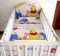 Promotion! 5PCS Mesh Newborn babies Bedding kit of bedding/crib bedding set/children bedding set,include(4bumpers+sheet)