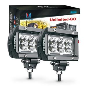 """Image 3 - Luz de led para piscina, luz de led para condução em barra, mictuning 2 peças k1 4 """"18w forjeep fora da estrada atv utv suv caminhão barco"""
