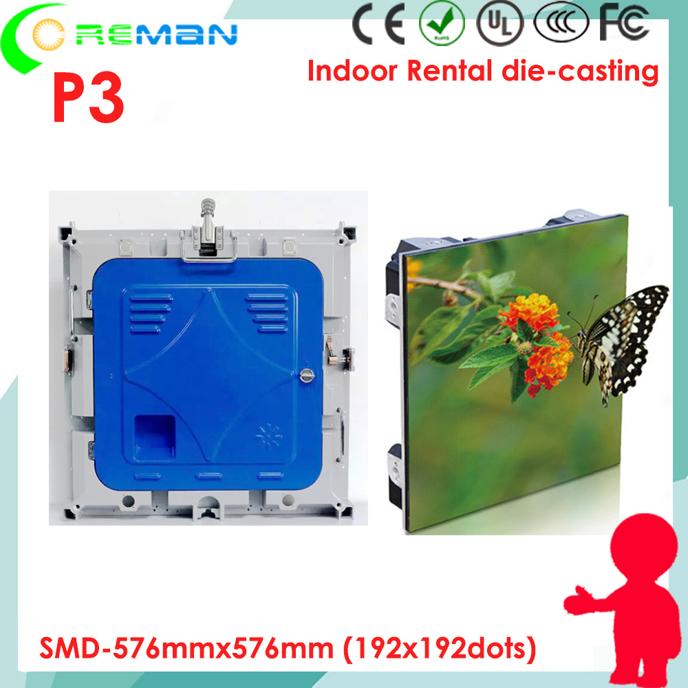 Nice P3 High Brightness Rgb Led Panel Inside Live Tv Show , Support Multi Video Format Led Video Panel Wireless Pc Control P2 P1 P1.6 Firm In Structure