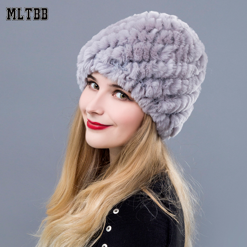f56532ecb31a7 MLTBB 2019 Winter Hat Women Slouchy Hat Female Knitted Hats Cuffed Plain  Warm Cap For Women Thickening Warm Caps-in Skullies   Beanies from Apparel  ...