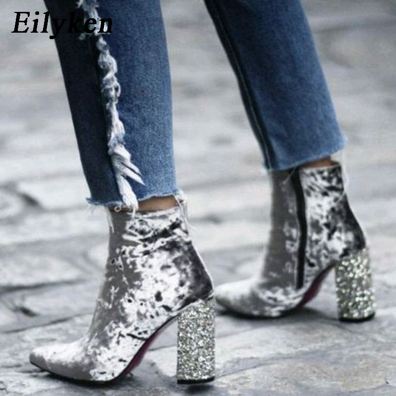 d6d26a5456 Eilyken spring autumn new design women ankle boots pointed toe boots ...