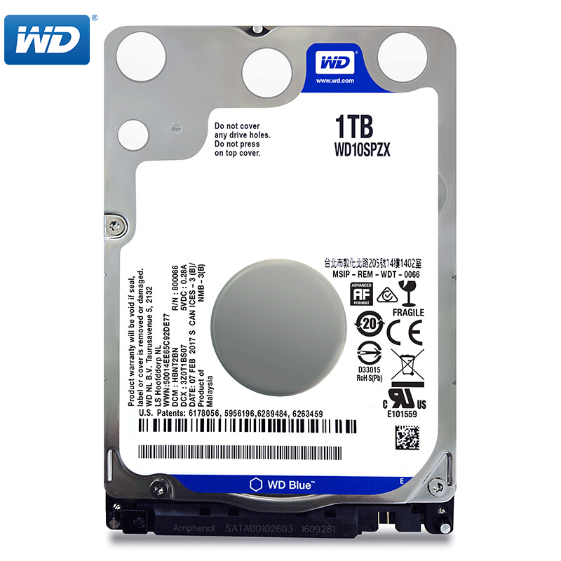 WD Blue 1TB 2.5 SATA III Internal Hard Disk Drive 1000Gb HDD HD Harddisk 6Gb/s 128M 7mm 5400 RPM for Notebook Laptop корпус для hdd orico 9528u3 2 3 5 ii iii hdd hd 20 usb3 0 5