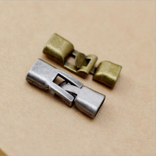 10set/lot Antique Silver Bronze Bracelet End Clasp Connectors for Jewelry Making fit Flat Leather Cord 4.5x10mm