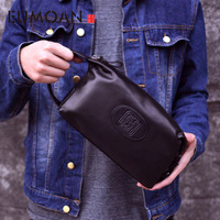 EUMOAN Brand Men Hand Bag Men Handbag Genuine Leather Soft cowhide Large Capacity Men Clutch Wallets Purse 2019 Casual Men Bag