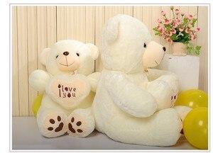 Image 3 - זול 50CM 70CM 90CM דובון דובי חיבוק ענק גדול צעצועי בובה ממולא בפלאש בעלי חיים אני אהבה אתה בובת ולנטיין מתנה עבור ילדה