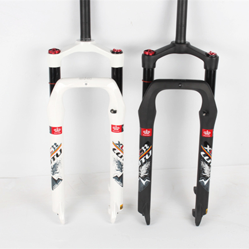 LUTU 1-1 / 8  Fat Bike Fork 26 Air Suspension Fork Bicycle Aluminum Bicycle Fork Compatible 26 * 4.0 mm Bike Tire Bike Parts usd 6 fat wide fat fork 26 air suspension bicycle front fork for mtb 26 4 0 26 4 5 26 4 8 snow bike fat bike beach bike ebike