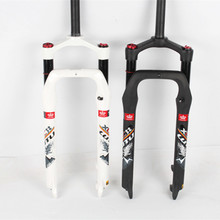 LUTU 1-1 / 8  Fat Bike Fork 26 Air Suspension Fork Bicycle Aluminum Bicycle Fork Compatible 26 * 4.0 mm Bike Tire Bike Parts цена