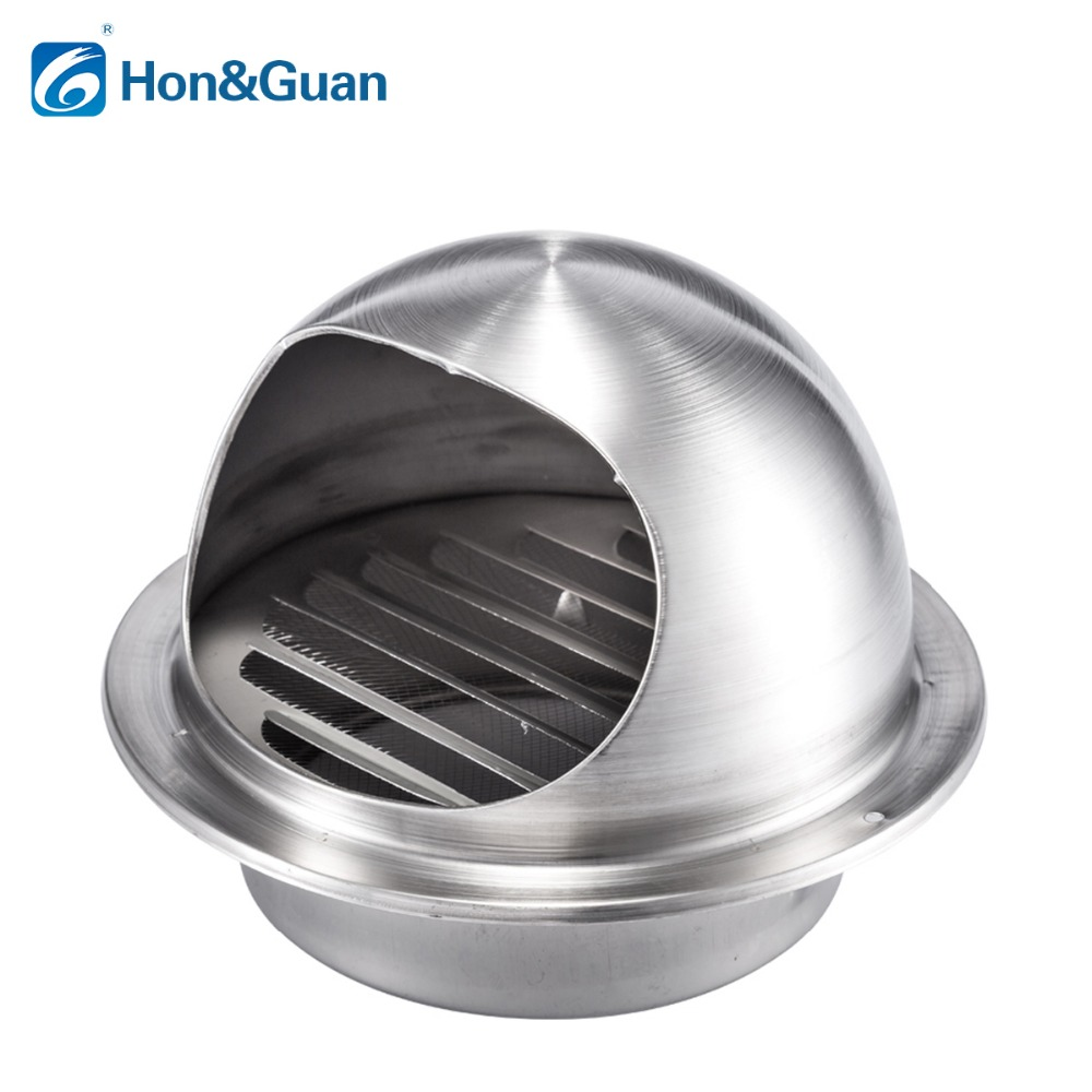 Hon&Guan 4-12 Round Air Vent Duct Grill Extractor Fan Tumble Dryer ventilation Wall Ceiling Stainless Steel Duct Cover