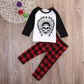 Newborn Toddler Kids Baby Boys Girls Outfits Clothes T-shirt Tops+Pants 2PCS Set baby clothes kids clothes children clothing Set