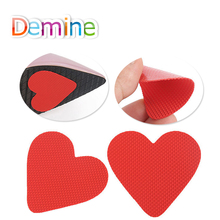 Demine Anti-Slip Self-Adhesive Shoes Mat High Heel Sole Protector Cushion Non Slip Insole Forefoot High Heels Sticker Inserts 1 2 pairs of high heeled shoes cushion non slip silicone embellished invisible insole with heel socks