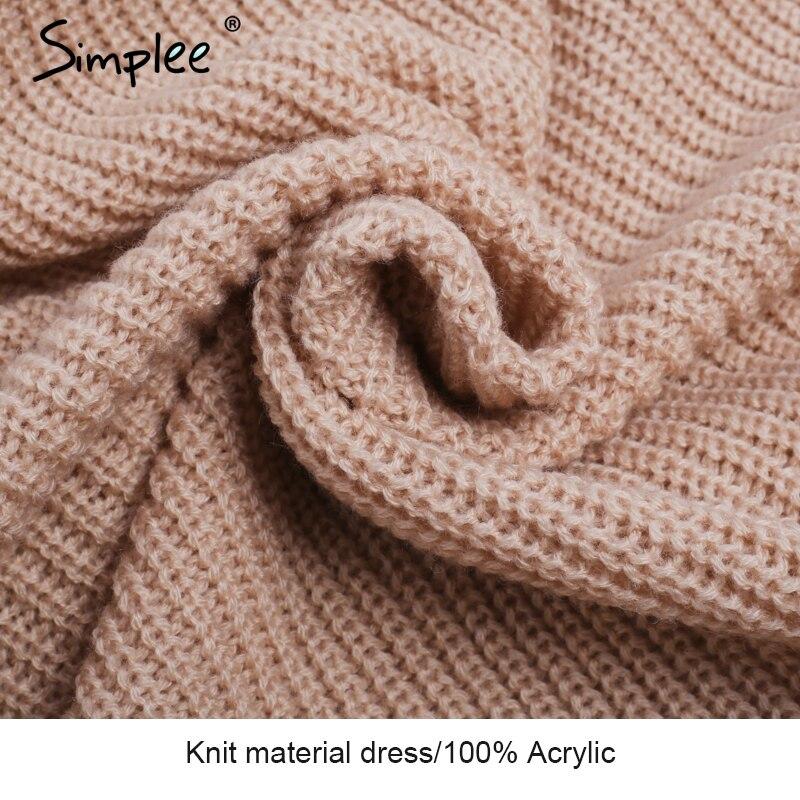 15b9de262b ... neck cross knitting sweater dress Women elegant long sleeve pullover  female winter dress Autumn casual jumper. 40% Off. 🔍 Previous. Next
