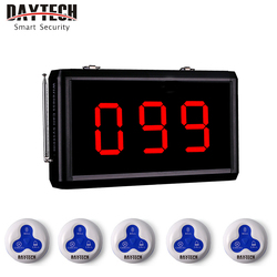 DAYTECH Pager Call Waiter Paging Queuing Calling Service System Coaster Panel Call Buzzer Restaurant Coaster Pager 433MHZ