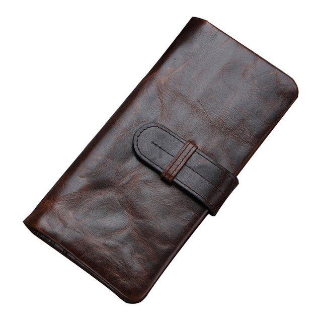 Men Wallets 2016 Long Famous Brand Genuine Leather Cow Leather Vintage Hasp Male Clutch Wallet With Coin Purses Holders Carteras